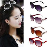 Women Vintage Oversized Sunglasses UV400 Huge Shades Retro Round Eyew IY