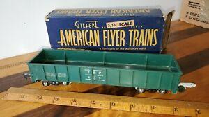 Gilbert American Flyer # 631 Green Gondola Car with original box.
