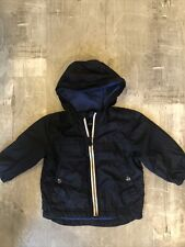 Baby Gap Navy Blue Hooded Lined Light Weight Jacket Size 18-24 Months