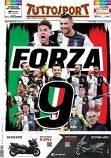 TUTTOSPORT 27/07/2020 FC JUVENTUS CAMPIONE D'ITALIA 2019/20 SCUDETTO FORZA 9