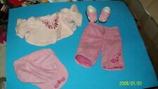 fits cabbage patch TRU DOLL OUTFIT GIRLS  PINK FAKE SUEDE