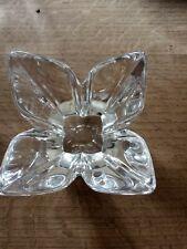 Orrefors Corona clear glass crystal vintage art dish bowl signed SWEDISH DESIGN