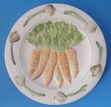 Small Plate with Carrots and Onions Made in Italy N Crown Mark Nove ISHI 8.5""