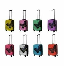 """Butterfly Hard Shell 4 Wheels Suitcase PC 19"""" Luggage Travel Bag Case Cabin Hand"""
