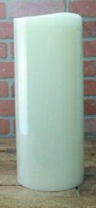 "Luminara 15"" Flameless Pillar Rustic Finish Candle White"