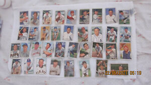 1952 BOWMAN LOT OF 34 WITH STARS/HALL OF FAMERS/HIGH NUMBERS