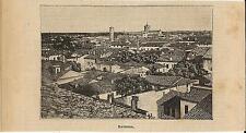 Stampa antica RAVENNA veduta panoramica Romagna 1899 Old antique print