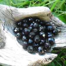 50 Perles de bohème facette 8 mm (Jet)