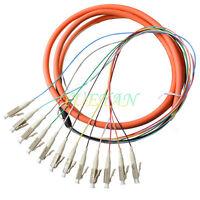1.5M 12 Core LC Pigtail Fiber Optic Pigtai Multi-Mode 62.5-Micron Multimode