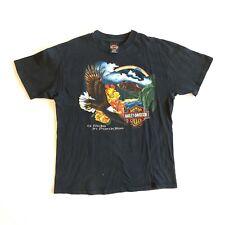 Vintage 1993 Harley Davidson Pacific Honolulu Hawaii T Shirt Black L Vtg 90s
