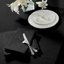 Liso Tejido Cuadrado Negro Mantel 229cm x 229cm (229cm x 229cm) & 4 servilletas