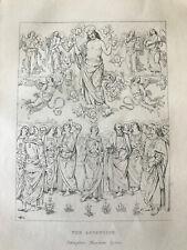 Edwin John Poynter ORIGINAL ETCHING The Ascension of Christ af. Pietro Perugino