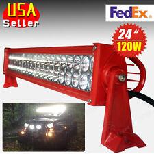 "24"" 120W Spot Flood Combo LED Light Bar Driving Offroad 4WD SUV UTE ATV Driving"