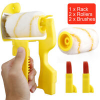 Facibom 6Pcs Paint Edger Roller Brush Tools Portable Clean-Cut Brush for Home Wall Ceilings