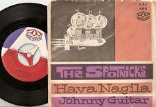 THE SPOTNICKS HAVA NAGILA & JOHNNY GUITAR DANISH 45+PS 1962 FREAKBEAT R&R GARAGE