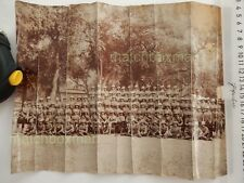 VINTAGE PHOTOGRAPH SCOTTISH HIGHLANDERS PITH HELMETS SOUTH AFRICA/INDIA? C 1900