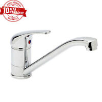 Kitchen Sink Mixer Tap Single Lever Modern Monobloc Solid Brass Chrome Finish