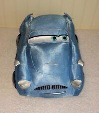 "Disney Pixar Cars Finn McMissile Gund Blue Race Car Plush Stuffed 11"" Shiny Toy"