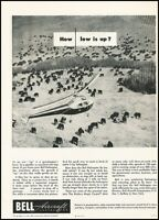 1946 Bell Aircraft Helicopter Cattle Cow Vintage Advertisement Print Art Ad J656