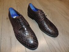 Giovanni Conti Woven Brown Leather Shoes 7 US 40
