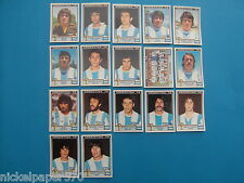 PANINI WORLD CUP STORY - ARGENTINA 78 - TEAM ARGENTINA COMPLETO