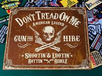 COLT Tex and Patches metal tin sign W// FREE PATCH man cave garage wall decor