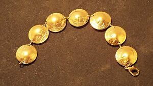 US Indian Head Nickels Domed and Made into a Bracelet,  Buffalo one Side