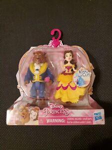 Disney Princess Royal Clips BEAUTY and THE BEAST Belle & Beast Doll ~ NIP