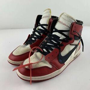 Nike Air Jordan 1 Off-White Chicago Red Black White Men US 12 Sneaker AA3834-101