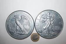 PRECIOSA MONEDA GIGANTE U.S.A. RÉPLICA 78mm DIÁMETRO, 1/2 DOLAR 1916 SC VER FOT