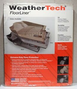 WeatherTech 451101 For 2007-2012 Lincoln MKX, 2007-2010 Ford Edge, New In Box
