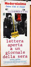 locandina orig. LETTERA APERTA A UN GIORNALE DELLA SERA Francesco Maselli 1970