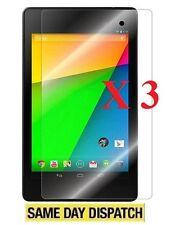 3 x Google Nexus 7 2 2nd Gen 2013 Clear LCD Proteggi Schermo Cover Pellicola & Panno