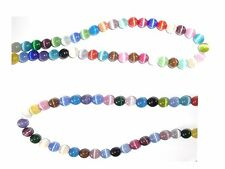 "Cats Eye Beads 6mm Rainbow Strand Grade ""A"" Fiber optic 65 Beads per strand"