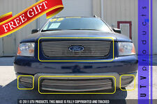GTG 2005 - 2007 Ford Freestyle 7PC Polished Overlay Combo Billet Grille Kit