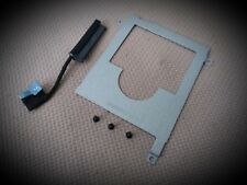 NEW Dell Latitude E7450 HDD Hard Drive/Disk caddy bracket + SATA Cable Connector
