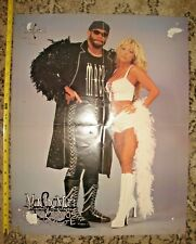 RARE VINTAGE WCW DOUBLE-SIDED POSTER MACHO MAN RANDY SAVAGE & GORGEOUS GEORGE