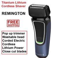 Remington Titanium Close Cut Mens Shaver Cordless Electric Pop Up Trimmer Shave