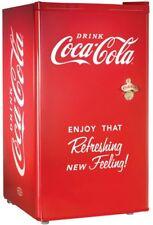 Coca Cola Mini Refrigerator in Red 3.2 cu. ft. Classic Vintage Coke Bottle Open
