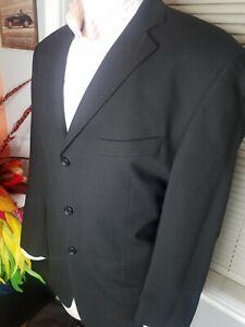 St Michael Marks & Spencer Made in Israel 100% Wool Black Blazer Jacket Size 42