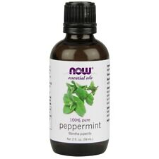 NOW 100% Pure Peppermint Essential Oil 2 oz FRESH Made In USA Free Shipping