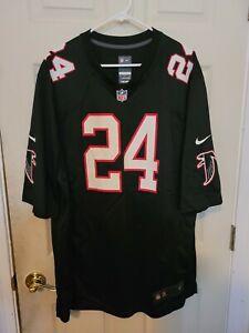 Devonta Freeman NFL Atlanta Falcons #24 Black Game Jersey Men's XXL