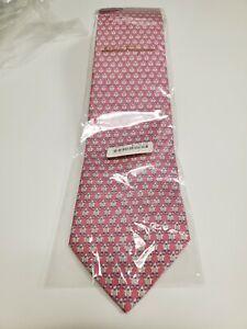 SALVATORE FERRAGAMO Mens Necktie PINK PENGUIN NWT (original plastic)