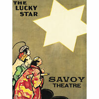 Hardy Lucky Star Theatre Show Savoy Advert Large Canvas Art Print