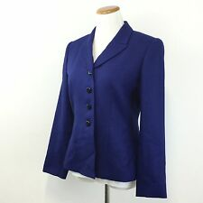 Womens LE SUIT Sz 6 Blue Blazer Jacket Fully Lined Career Professional Size 6