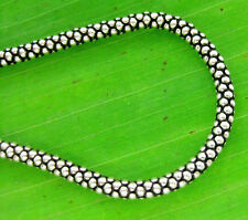 "REAL 925 sterling silver 3mm OXIDISED CHAIN Necklace POPCORN 16"" to 33"" - UNISEX"