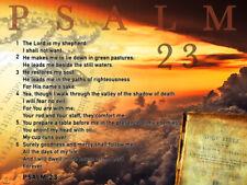 Psalm 23 Poster Bible Scripture Quote Inspirational Art Print (24x18)