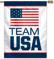 27 in.x 37 in. Olympic Team USA Banner,Printed Polyester made in USA