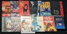 More details for lot of 11 vintage theatre & concert programmes with tickets & 1 poster assorted