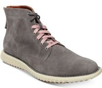 NEW STEVE MADDEN VERNER DARK GRAY SUEDE LACE UP ANKLE BOOTS 13 M